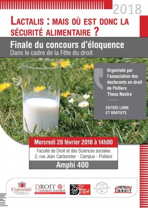 Poitiers - Finale du concours d'éloquence dans le cadre de la fête du droit